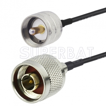 N Male to UHF Male Cable Using RG58 Coax