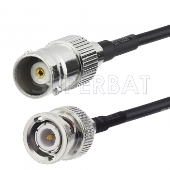 BNC Male to BNC Female Cable Using RG174 Coax