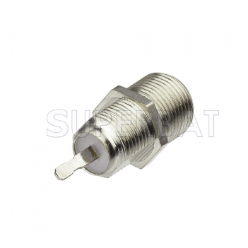 F Jack Female Connector Straight Solder