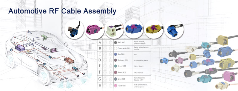 Fakra cable assembly HSD cable Assembly
