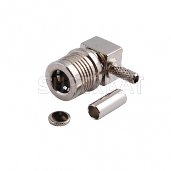 Custom RF Cable Assembly QMA Plug Right Angle pigtail cable Using RG316 RG174 LMR100 Coax