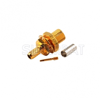 MCX Female Jack bulkhead to crimp RG174 RG316 gold plated connector adapters cheaper price