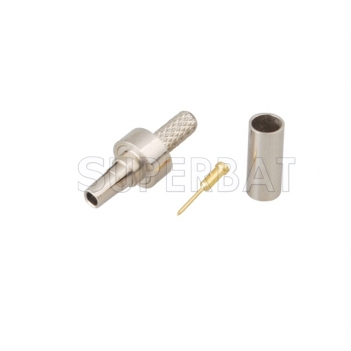 CRC9 Plug Male Connector  Straight None Crimp RG316
