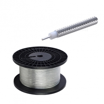 Superbat Diameter With Tinned Copper Braid Conductor Outer 0.250 Cable Conductor Semi Rigid Coax Cable 10 feet
