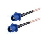 FAKRA C blue plug to FAKRA C blue plug extension cable
