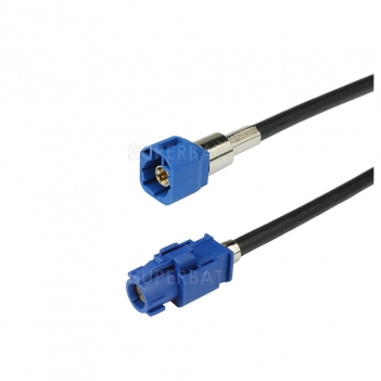 Fakra HSD Cable Assembly Code C Straight Jack to Code C Straight Plug 120cm LVDS HSD cable