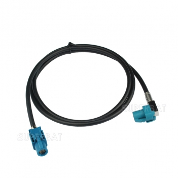 Vehicle High-Speed Transmission FAKRA HSD Z Waterblue LVDS Shielded Dacar 535 4-Core Cable for BMW/Benz