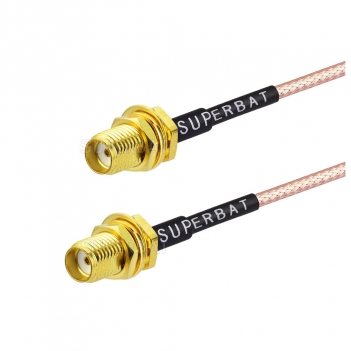 Female to female SMA custom coaxial cable assembly for RG316 cable