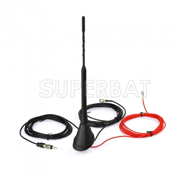 DAB/DAB+ Radio Car Aerial Antenna Mast FME Amplified roof mount antenna