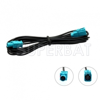 Superbat In Car Radio Aerial Extension Cable Lead 5M Male Fakra to Fakra Female