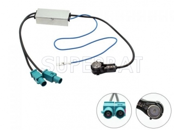 Superbat Universal Twin Fakra to ISO Aerial Adaptor Cable