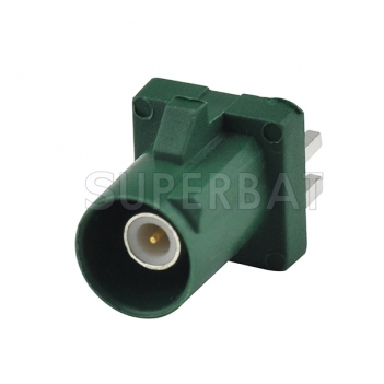 Fakra Male PCB mount Plug End Launch Car connector Green/6002 TV1