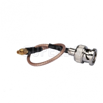 MMCX male straight to BNC male straight pigtail cable RG316