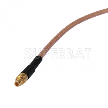 MMCX male straight to BNC male RA pigtail cable RG316