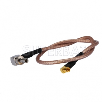 MMCX female RA to CRC9 male connector for Huawei pigtail cable RG316