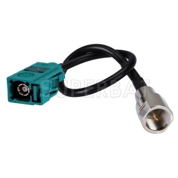 Pigtail cable FME male Plug to Fakra Z female JACK RG174 15CM