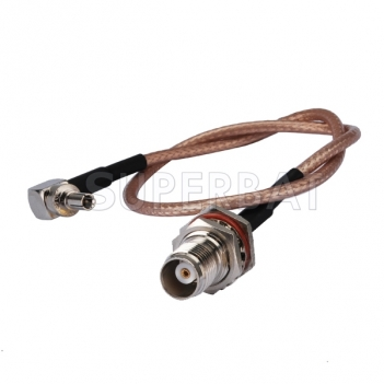 CRC9 to TNC Female Bulkhead waterproof connector for Huawei mobile broadband antenna