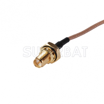 RF Extension Cable Connector RP-SMA female bulkhead nut waterproof to MCX male angled Assembly Rf Wire RG316