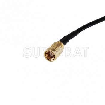 SMB male straight to exposed end Connector pigtail cable RG174