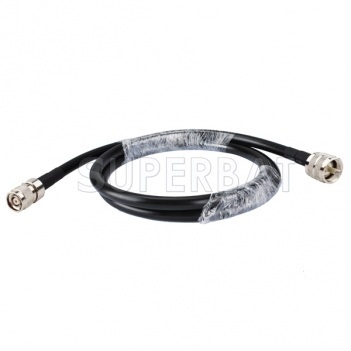 RP-TNC male crimp to UHF male crimp straight Patch Lead LMR400 Custom RF cable assembly