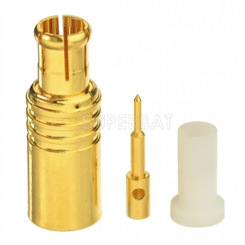 "MCX Male Solder Mount Connector for 0.141"" RG402 Semi Rigid Coaxial Cable"