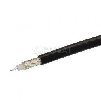 Coaxial Cable 75Ω BLACK RG179 Single Copper Braid Shielded Flexible RF Coax Cable 1 Meter