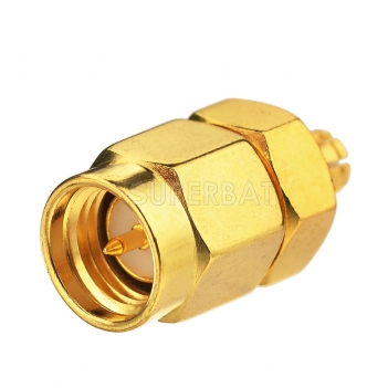SMP Jack Female Adapter to SMA Straight Plug Male 50Ω RF Coax Adapter Connector