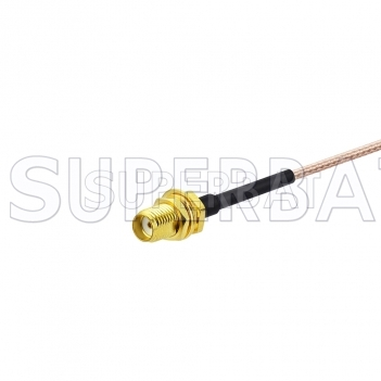 Superbat SMA socket SMA Bulkhead Pigtail cable RG178 to bland end /Stripping end /Pre-made end 6inch for Wifi Ham Radio