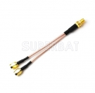 4G LTE Antenna Adapter Splitter Cable SMA Female Bulkhead nut to Dual SMA Male RG316 10cm