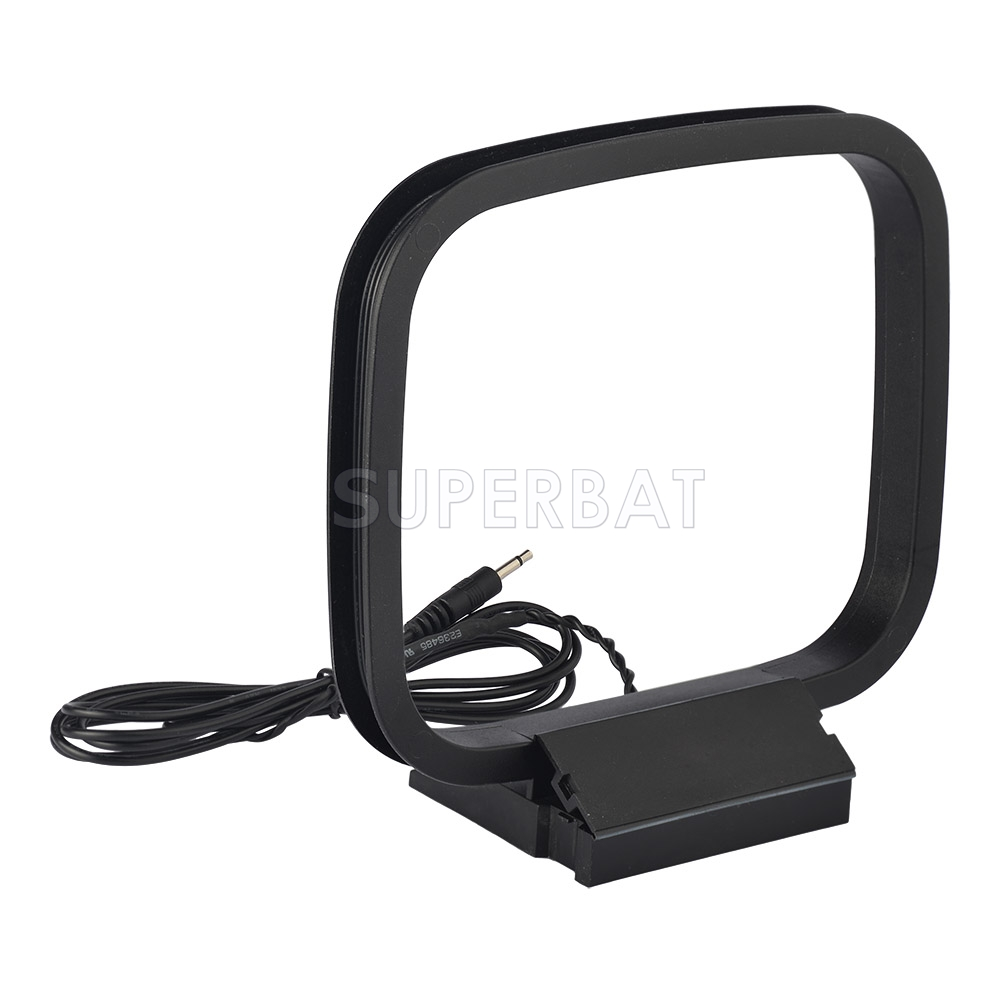 AM Loop Antenna 75ohm 2 5mm Adapter AM/MW/LW Antenna for