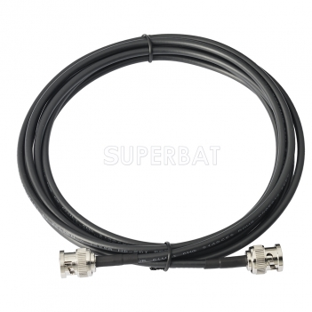 Superbat 10 feet BNC Male to BNC Male 75 Ohm 3G 6G HD SDI Vedio Camera Cable (Belden 1855A)