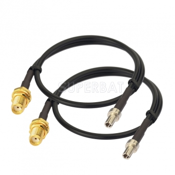 SMA Female Bulkhead to TS9 Splitter Adapter Jumper Antenna Cable 30 cm for 4G LTE Router USB Modem MiFi Hotspots Verizon Netgear