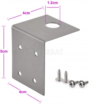 4G LTE Cellular Antenna Fixed Bracket Wall Mount RP-SMA Male Antenna for Booster Camera Router