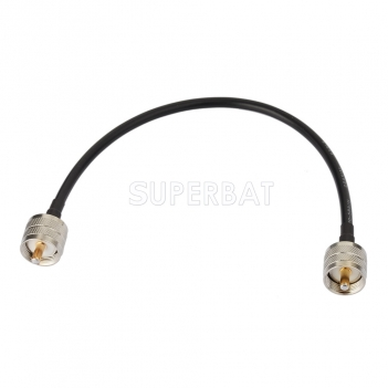 Superbat UHF(PL259) Plug Male to UHF(PL259) Plug Male Pigtail Jumper RG58 Extension Cable For Ham Radio Antenna Adapter Wire Assembly